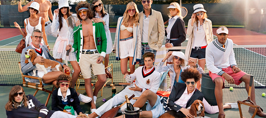 Tommy Hilfiger campaign representing types of modeling.