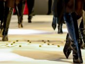 Black boots on a Fashion Runway